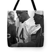 Chicago Bears S Adrian Wilson Training Camp 2014 Bw Tote Bag