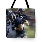 Chicago Bears Te Jeron Mastrud Moving The Ball Training Camp 2014 Tote Bag