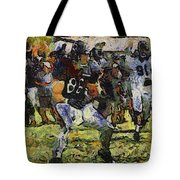 Chicago Bears Te Zach Miller Training Camp 2014 Pa 04 Tote Bag