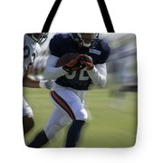 Chicago Bears Wr Chris Williams Moving The Ball Training Camp 2014 Tote Bag
