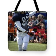 Chicago Bears Wr Chris Williams Training Camp 2014 04 Tote Bag