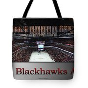 Chicago Blackhawks At Home Panorama Sb Tote Bag
