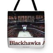 Chicago Blackhawks At Home Panorama White Tote Bag
