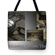 Chicago Blackhawks Before The Gates Open Interior 2 Panel Sb 01 Tote Bag