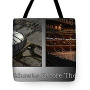 Chicago Blackhawks Before The Gates Open Interior 2 Panel Sb Tote Bag