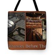 Chicago Blackhawks Before The Gates Open Interior 2 Panel Tan 01 Tote Bag