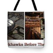 Chicago Blackhawks Before The Gates Open Interior 2 Panel White 02 Tote Bag