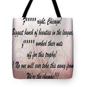 Chicago Blackhawks Crawford's Speech Tote Bag