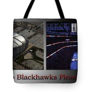 Chicago Blackhawks Please Stand 2 Panel Sb Tote Bag