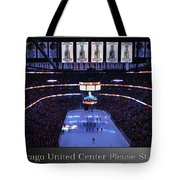 Chicago Blackhawks Please Stand Up With White Text Sb Tote Bag