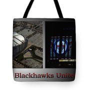 Chicago Blackhawks United Center 2 Panel Sb Tote Bag