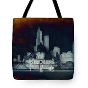 Chicago Buckingham Fountain Northside Textured Tote Bag