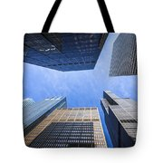 Chicago Buildings Upward View With Willis-sears Tower Tote Bag by Paul Velgos