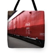 Chicago Burlington Quincy Freight Cars Tote Bag