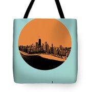 Chicago Circle Poster 2 Tote Bag