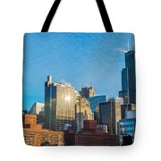 Chicago Cityscape During The Day Tote Bag