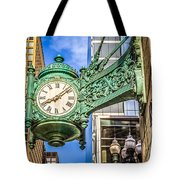 Chicago Clock Hdr Photo Tote Bag