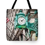 Chicago Clock On Macy's Marshall Field's Building Tote Bag