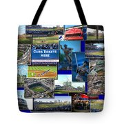 Chicago Cubs Collage Tote Bag