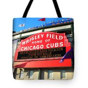 Chicago Cubs Marquee Sign Tote Bag
