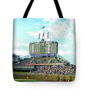 Chicago Cubs Scoreboard 01 Tote Bag
