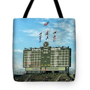 Chicago Cubs Scoreboard 02 Tote Bag