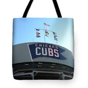 Chicago Cubs Signage Tote Bag