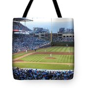 Chicago Cubs Up To Bat Tote Bag