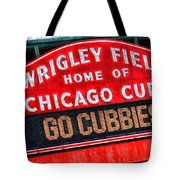 Chicago Cubs Wrigley Field Tote Bag
