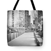 Chicago Downtown City Riverwalk Tote Bag