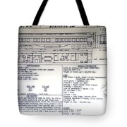 Chicago Eastern Il Rr Business Car Blue Print Tote Bag