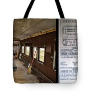 Chicago Eastern Il Rr Business Car Restoration With Blue Print Tote Bag