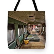 Chicago Eastern Il Rr Car Restoration With Blue Print Tote Bag