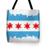 Chicago Flag Tote Bag by Mike Maher
