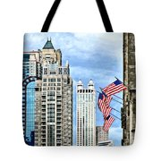 Chicago - Flags Along Michigan Avenue Tote Bag