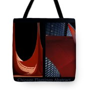 Chicago Flamingo Abstract 01 2 Panel Tote Bag