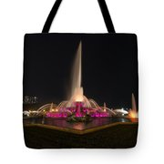 Chicago Fountain At Night Tote Bag