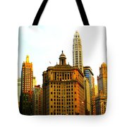 Chicago Glow Tote Bag