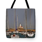 Chicago Harbor Lighthouse Illinois Tote Bag by Christine Till