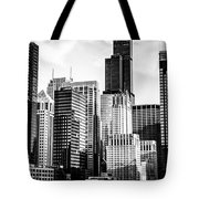 Chicago High Resolution Picture In Black And White Tote Bag by Paul Velgos