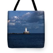 Chicago Illinois Harbor Lighthouse Early Evening Usa Tote Bag