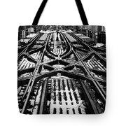 Chicago 'l' Tracks Winter Tote Bag