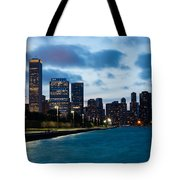 Chicago Lake Front At Blue Hour Tote Bag