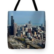 Chicago Looking North 03 Tote Bag