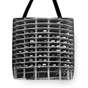 Chicago Marina City Parking Bw Tote Bag