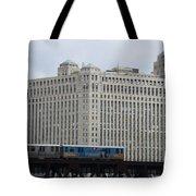 Chicago Merchandise Mart And Cta El Train Tote Bag