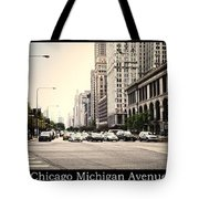 Chicago Michigan Ave Field Museum Art Institute Triptych 3 Panel Tote Bag