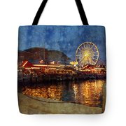 Chicago Navy Pier At Night Tote Bag