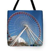 Chicago Navy Pier Ferris Wheel Tote Bag