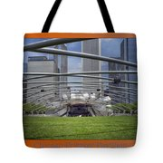 Chicago Pritzker Music Pavillion Triptych 3 Panel Tote Bag